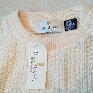 NEW🎇 Bill Blass Ivory cotton hand framed sweater